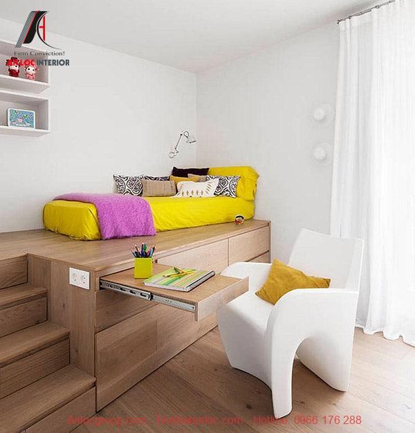 Trang trí nội thất phòng ngủ nhỏ với màu sắc hài hòa