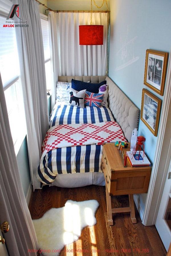 Ánh sáng tự nhiên giúp phòng ngủ nhỏ như rộng rãi hơn