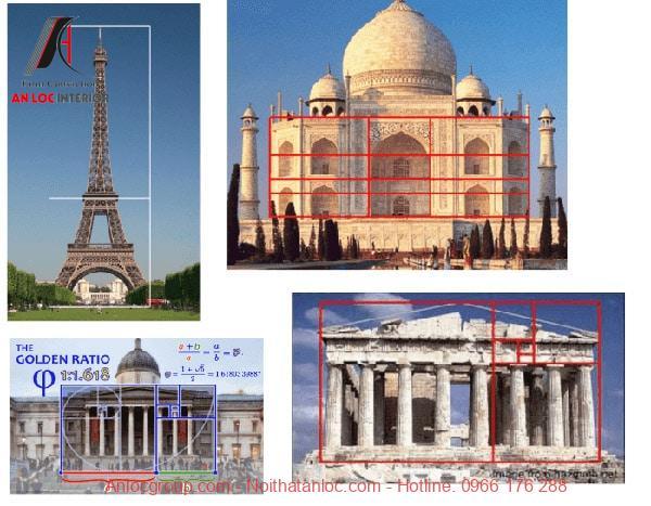 Tỷ lệ vàng trong kiến trúc