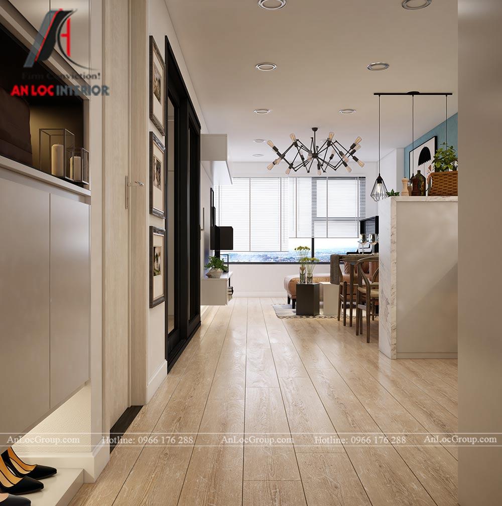 Mẫu thiết kế nội thất căn hộ 54m2 tại Flora Anh Đào - Ảnh 1