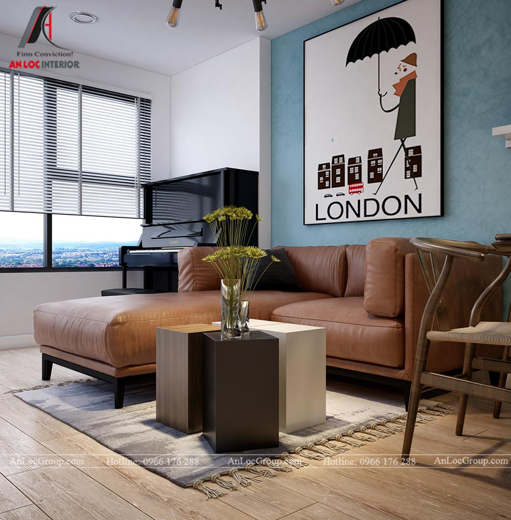 Mẫu thiết kế nội thất căn hộ 54m2 tại Flora Anh Đào - Ảnh 2