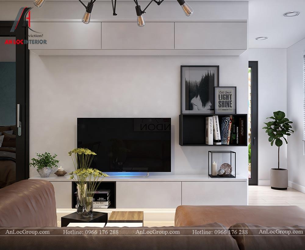 Mẫu thiết kế nội thất căn hộ 54m2 tại Flora Anh Đào - Ảnh 3