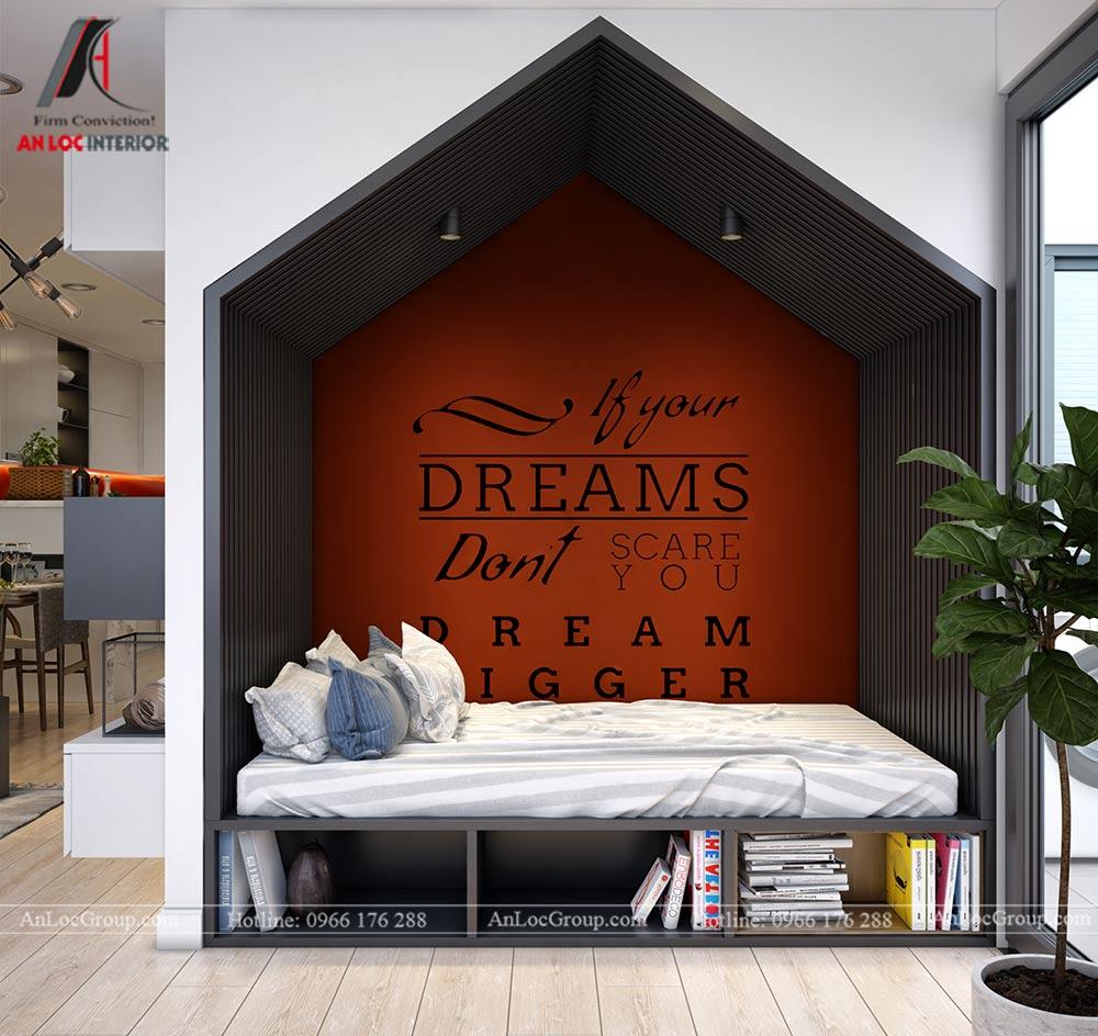 Mẫu thiết kế nội thất căn hộ 54m2 tại Flora Anh Đào - Ảnh 7