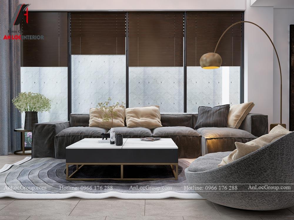 Mẫu thiết kế nội thất nhà phố đẹp tại Phú Thọ - Phòng khách