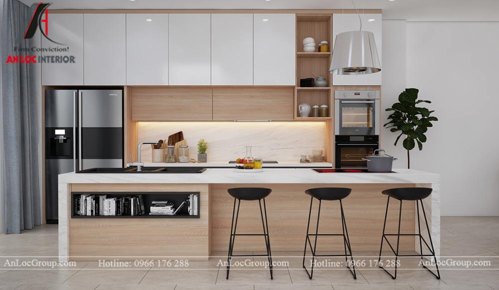 Mẫu thiết kế nội thất nhà phố đẹp tại Phú Thọ - Phòng bếp