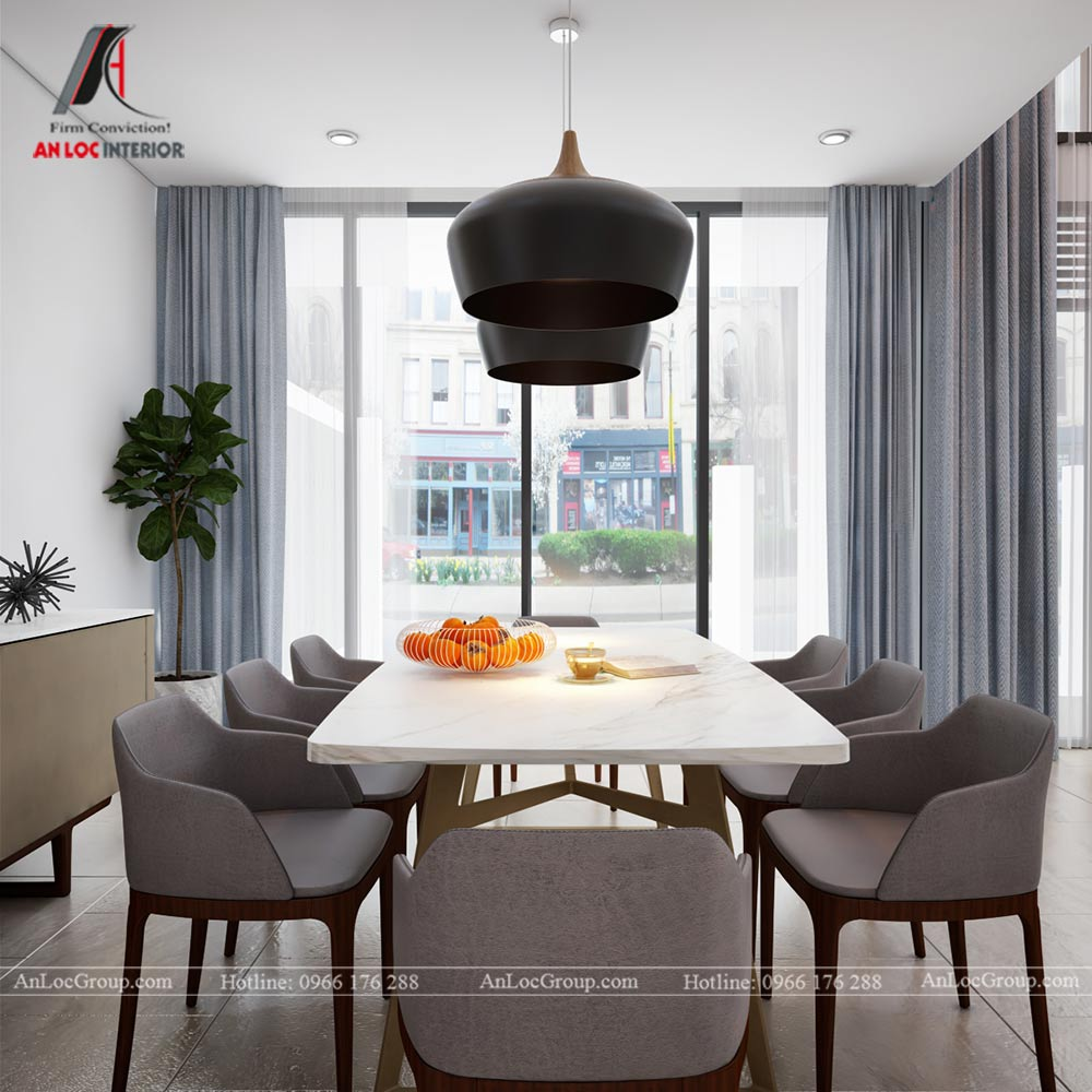 Mẫu thiết kế nội thất nhà phố đẹp tại Phú Thọ - Bàn ăn