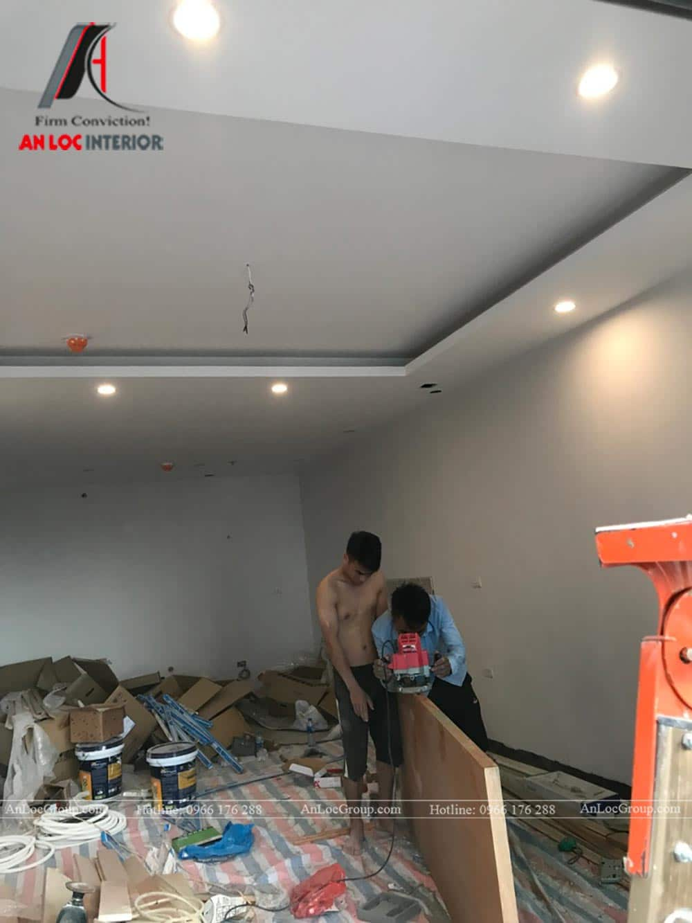 Thi công nội thất chung cư 81m2 tại Việt Đức Complex - Ảnh 5