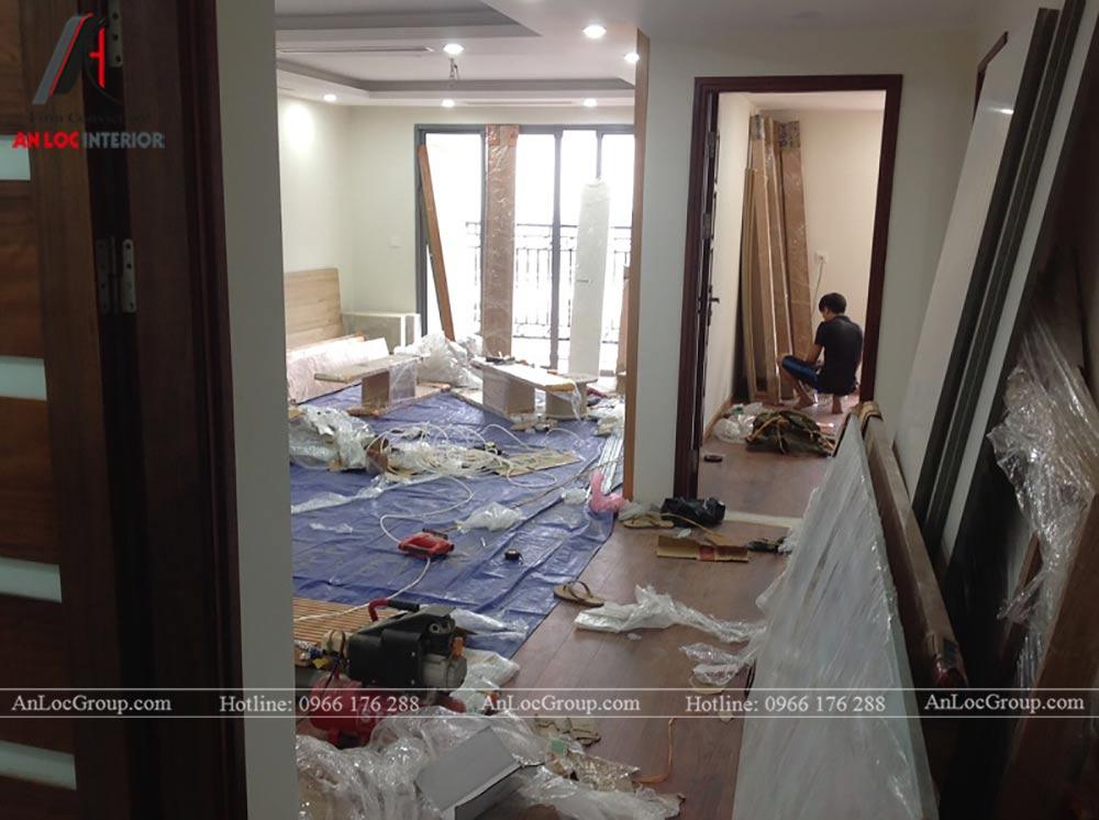 Thi công nội thất chung cư 81m2 tại Việt Đức Complex - Ảnh 6