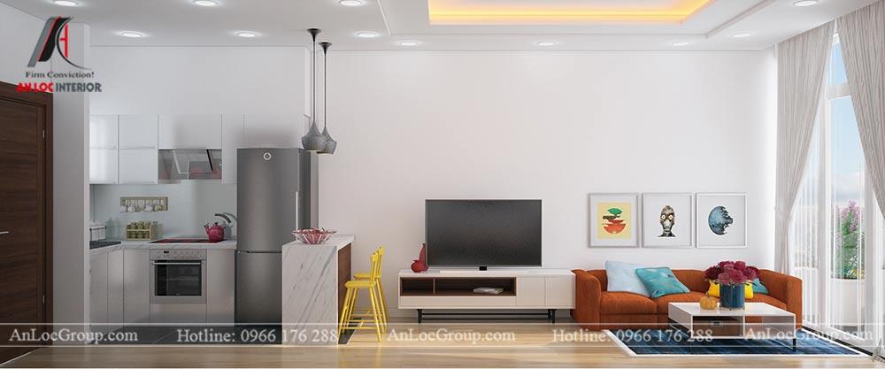 Mẫu thiết kế căn hộ mini 25m2 tại Vũ Tông Phan - Ảnh 2