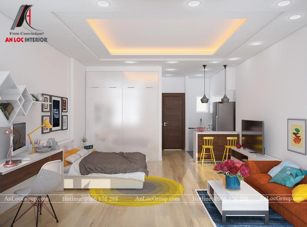 Mẫu thiết kế căn hộ mini 25m2 tại Vũ Tông Phan - Ảnh 3