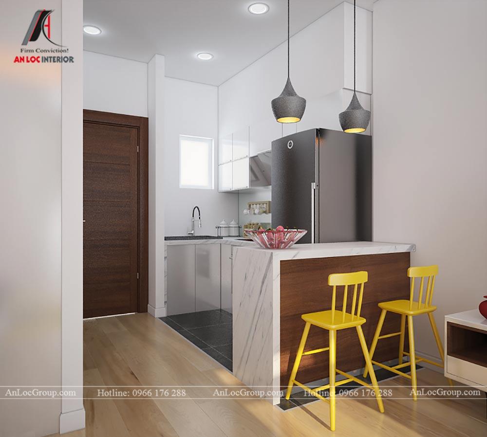 Mẫu thiết kế căn hộ mini 25m2 tại Vũ Tông Phan - Ảnh 4