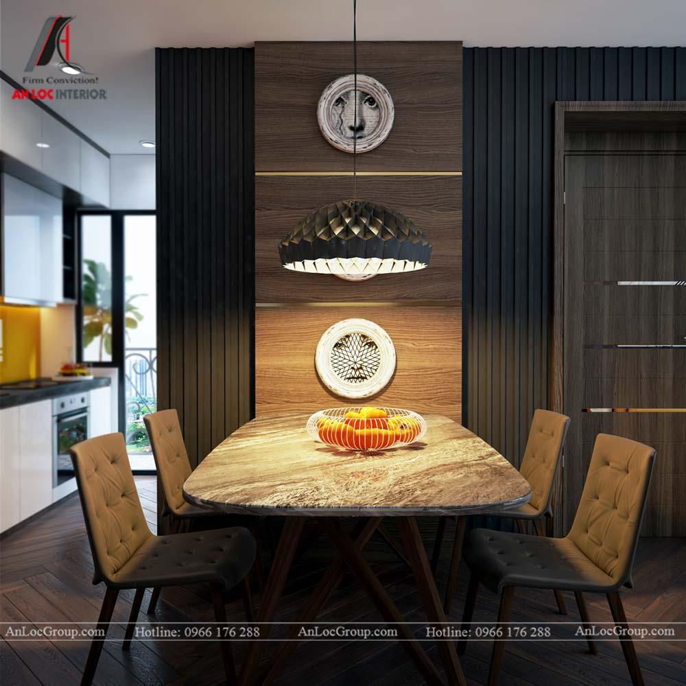 Hình ảnh nội thất phòng ăn chung cư Mỹ Đình Pearl 80m2