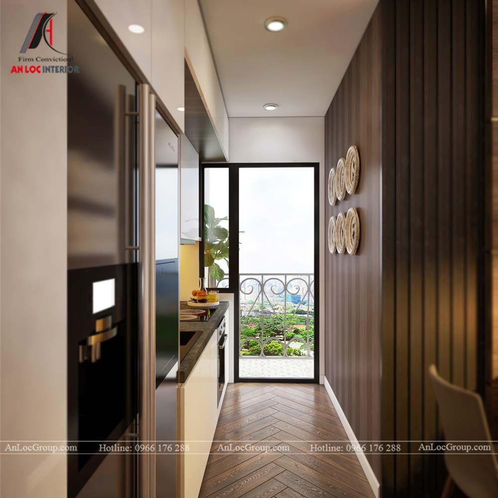 Hình ảnh nội thất phòng bếp chung cư Mỹ Đình Pearl 80m2 - Ảnh 1