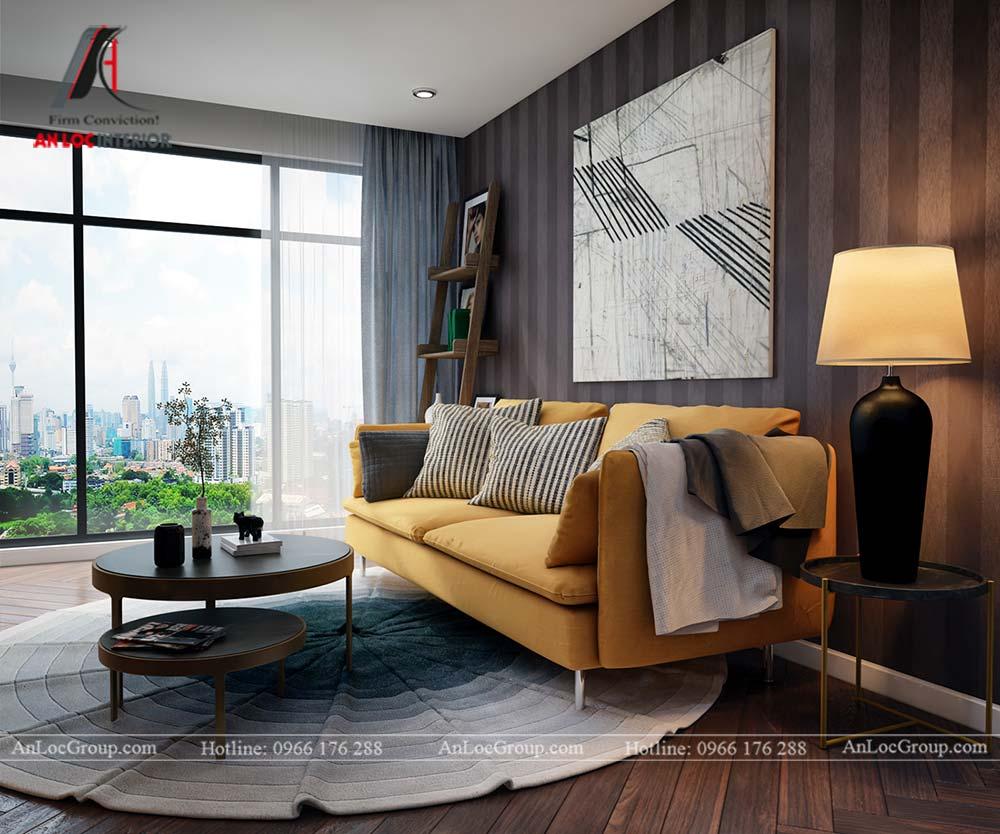 Hình ảnh nội thất phòng khách chung cư Mỹ Đình Pearl 80m2 - Ảnh 1