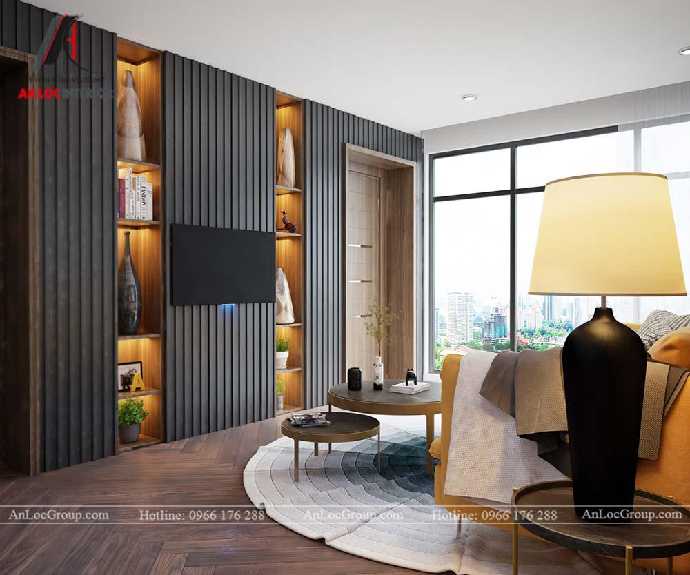 Hình ảnh nội thất phòng khách chung cư Mỹ Đình Pearl 80m2 - Ảnh 2