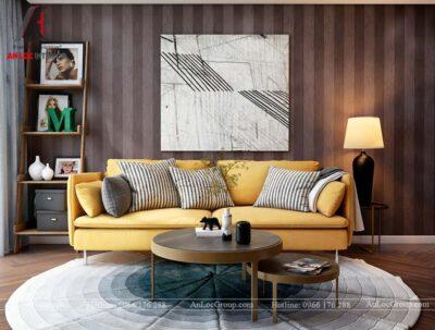 Hình ảnh nội thất phòng khách chung cư Mỹ Đình Pearl 80m2 - Ảnh 4
