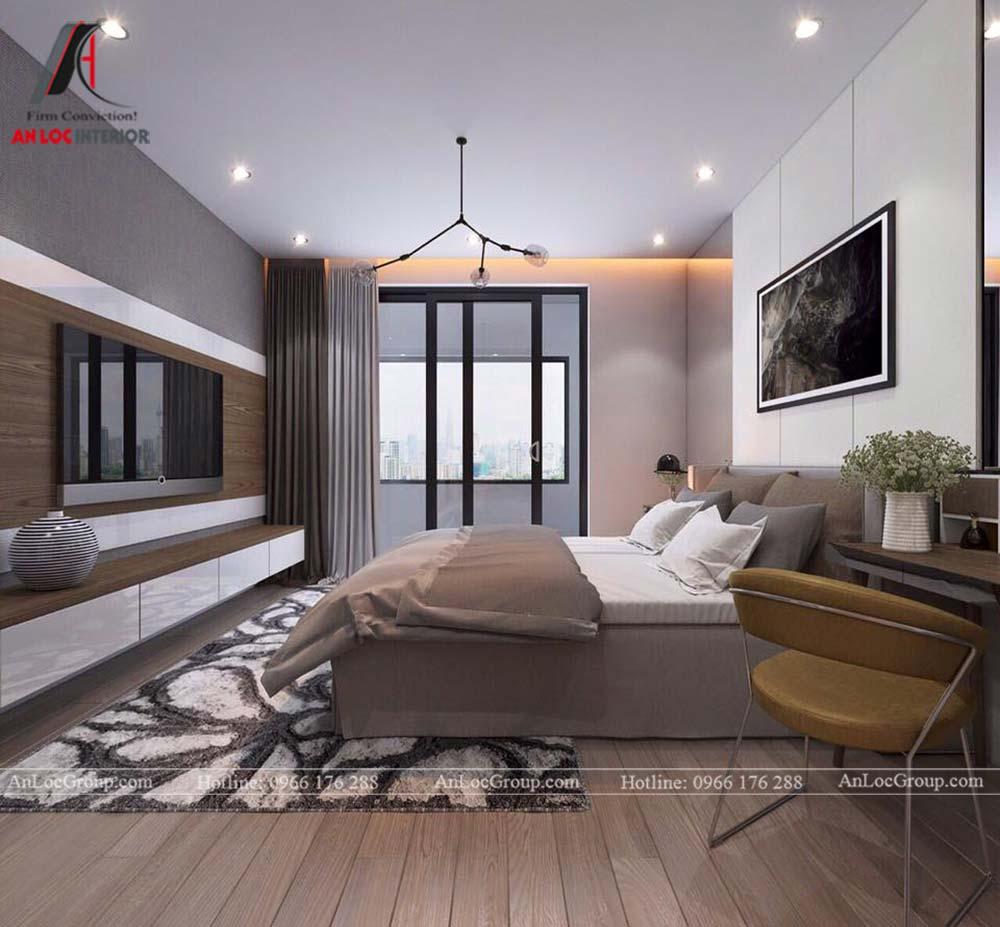 Hình ảnh nội thất ngủ chung cư Mỹ Đình Pearl 80m2 - Ảnh 2