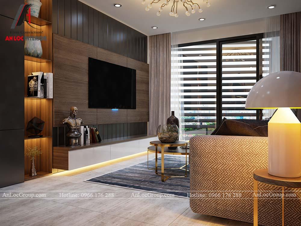 Thiết kế nội thất chung cư cao cấp Kosmo Tây Hồ 93m2 - Ảnh 2