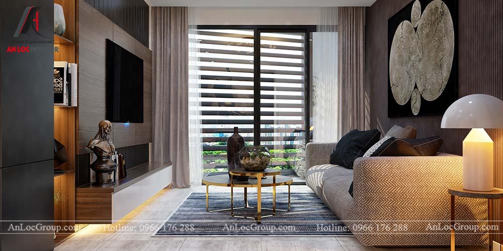 Thiết kế nội thất chung cư cao cấp Kosmo Tây Hồ 93m2 - Ảnh 3