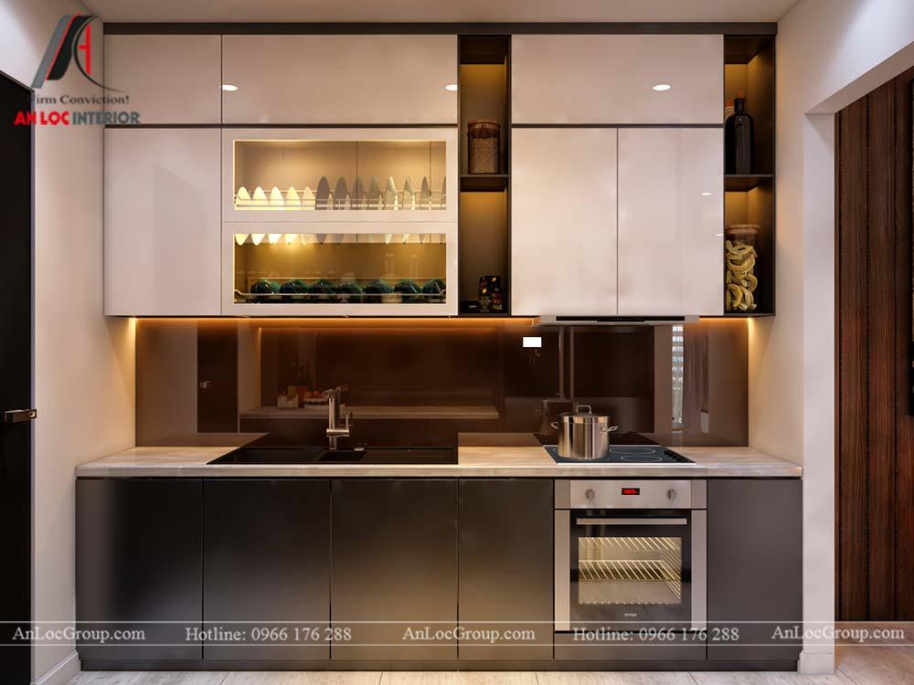 Thiết kế nội thất chung cư cao cấp Kosmo Tây Hồ 93m2 - Ảnh 4