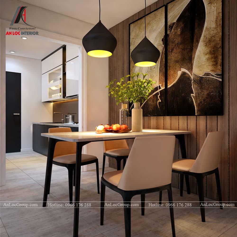 Thiết kế nội thất chung cư cao cấp Kosmo Tây Hồ 93m2 - Ảnh 6