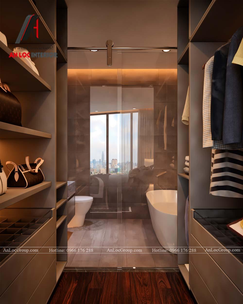 Thiết kế nội thất chung cư Việt Đức Complex phòng thay đồ 4