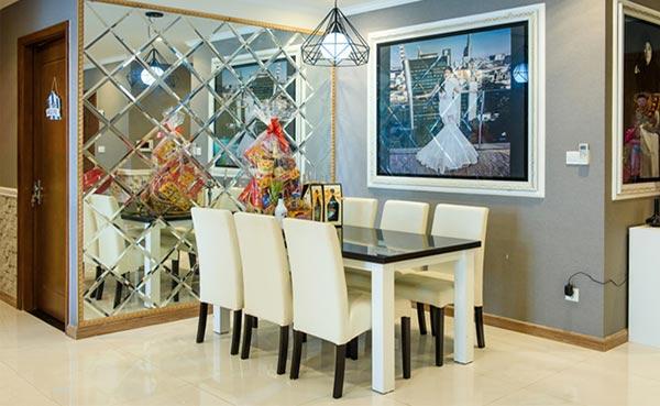 Gương trang trí phòng ăn giúp tăng sự thịnh vượng