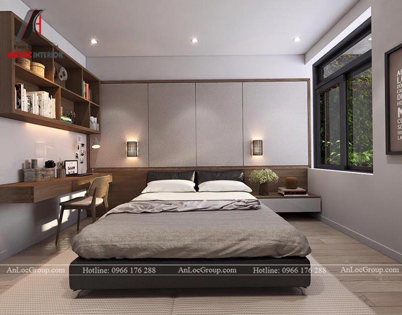 Nội thất phòng ngủ master rộng rãi, thông thoáng