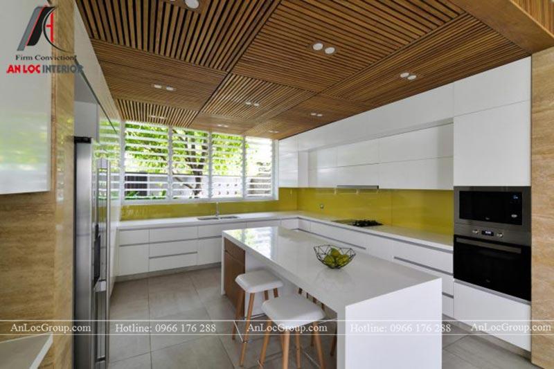 Thiết kế nội thất phòng bếp biệt thự hiện đại tại Thảo Điền Village