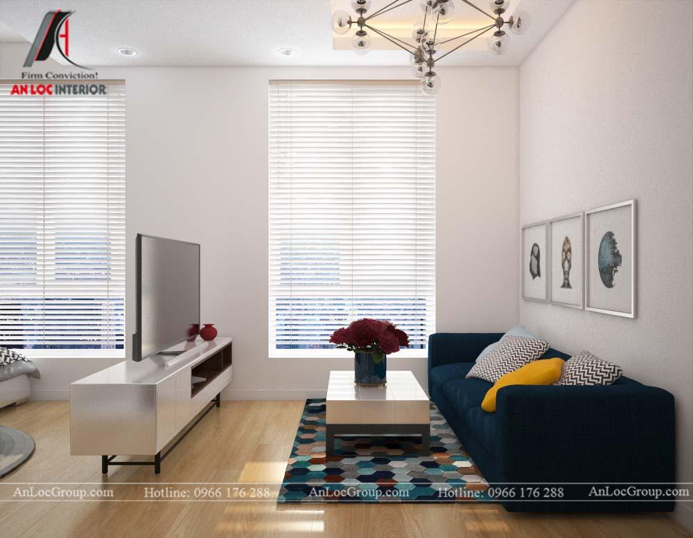Thiết kế nội thất căn hộ nhỏ 45m2 tại Topaz Elite - Ảnh 2