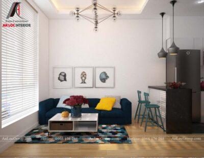 Thiết kế nội thất căn hộ nhỏ 45m2 tại Topaz Elite - Ảnh 3