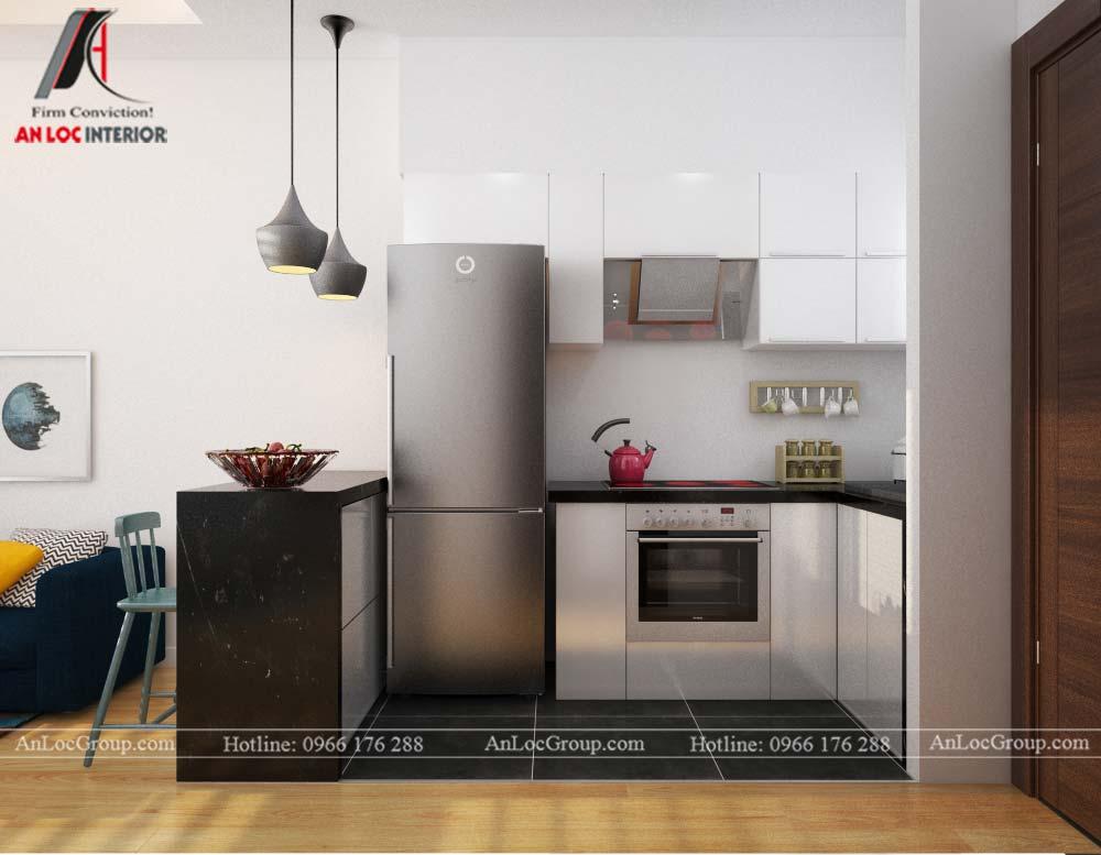 Thiết kế nội thất căn hộ nhỏ 45m2 tại Topaz Elite - Ảnh 5