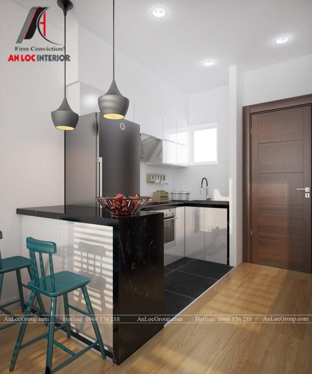 Thiết kế nội thất căn hộ nhỏ 45m2 tại Topaz Elite - Ảnh 6