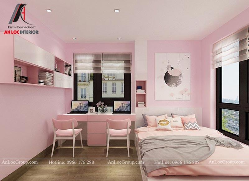 Thiết kế phòng ngủ cho bé gái - Mẫu 3