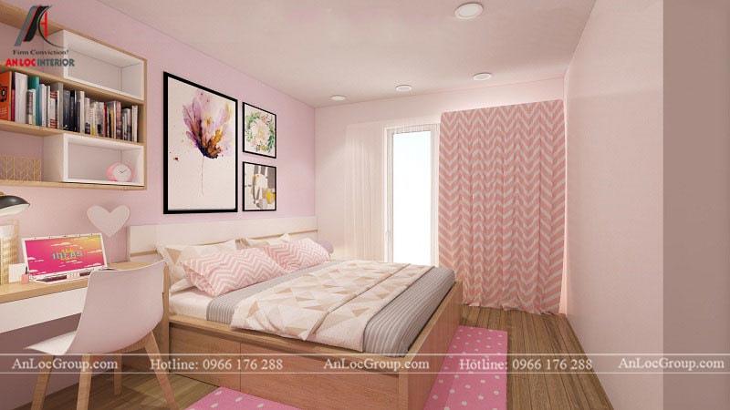 Thiết kế phòng ngủ cho bé gái - Mẫu 4