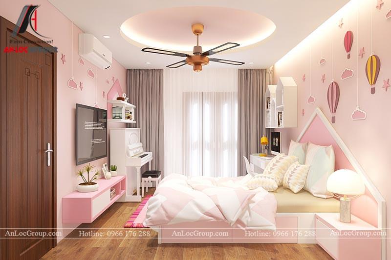 Thiết kế phòng ngủ cho bé gái - Mẫu 5