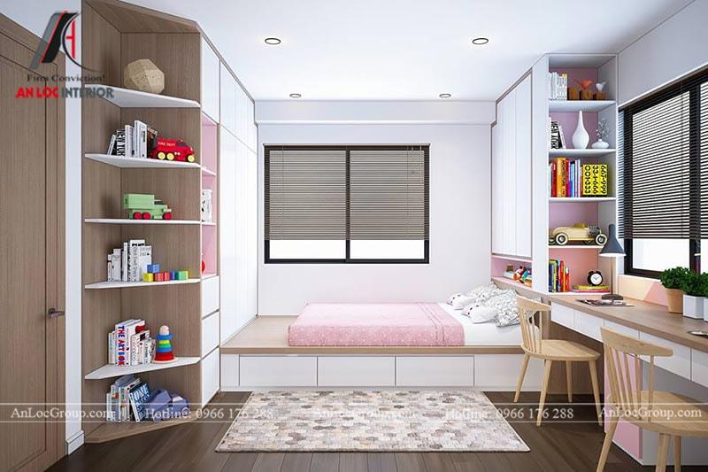 Thiết kế phòng ngủ cho bé gái - Mẫu 7