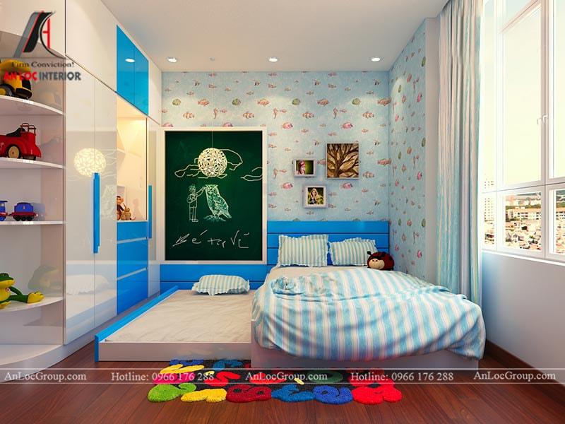 Thiết kế phòng ngủ cho bé trai - Mẫu 1