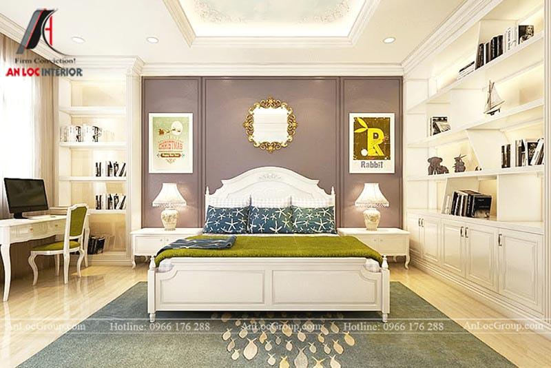 Thiết kế phòng ngủ cho bé trai - Mẫu 2