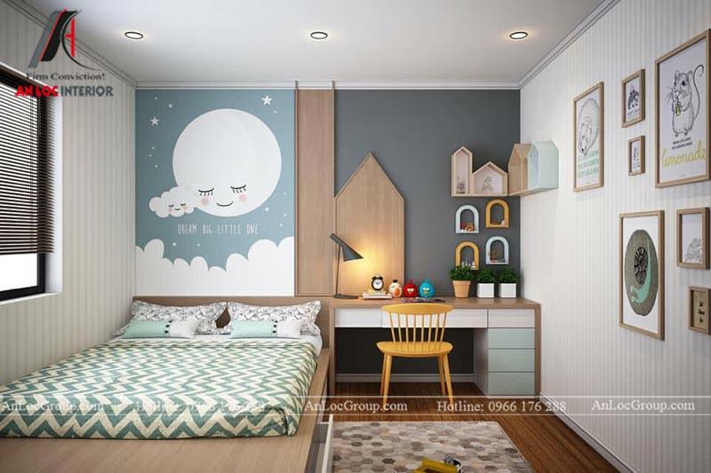 Thiết kế phòng ngủ cho bé trai - Mẫu 4