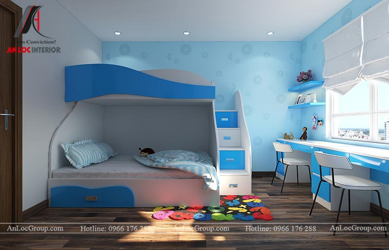 Thiết kế phòng ngủ cho bé trai - Mẫu 6