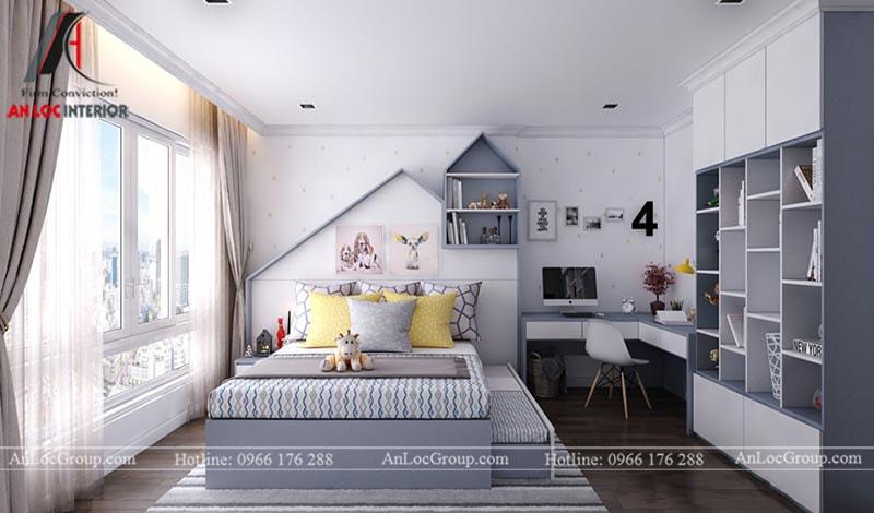 Thiết kế phòng ngủ cho bé trai - Mẫu 7