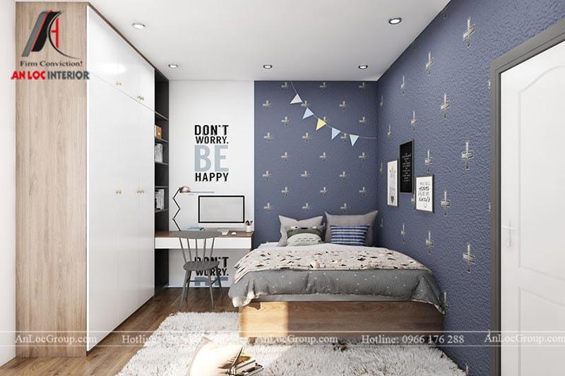 Thiết kế phòng ngủ cho bé trai - Mẫu 8