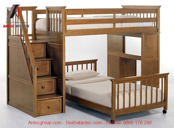Mẫu 13 - Giường gỗ 2 tầng đa năng