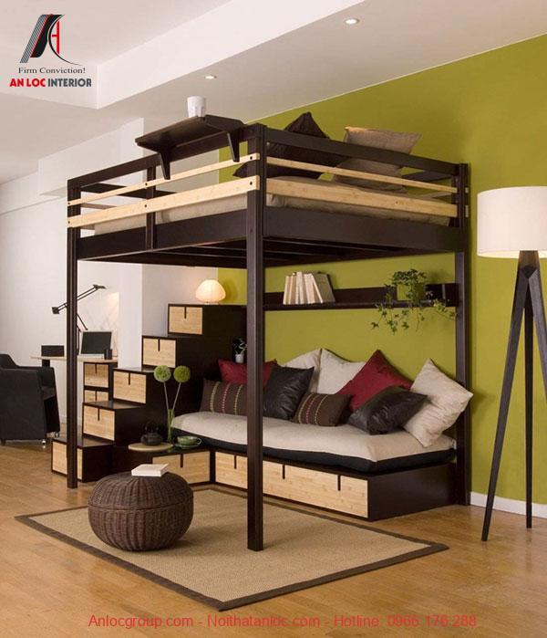 Mẫu 14 - Giường ngủ tầng nhiều chức năng
