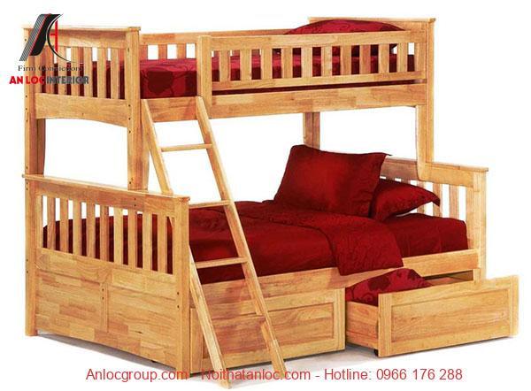Mẫu 22 - Giường tầng 1m6 từ gỗ tự nhiên