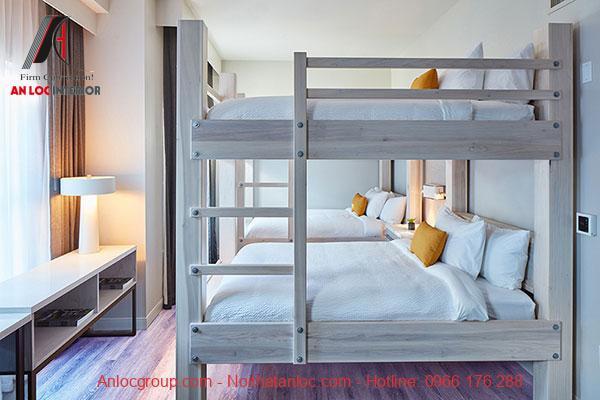 Mẫu 3 - Giường tầng bằng gỗ cho người lớn