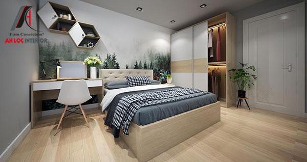 1. Mẫu giường ngủ đẹp, hiện đại từ gỗ công nghiệp