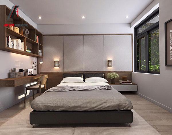 12. Giường đôi thấp cho phòng ngủ master nhỏ