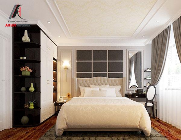 13. Mẫu giường ngủ đẹp, sang trọng mang kiểu cách tân cổ điển